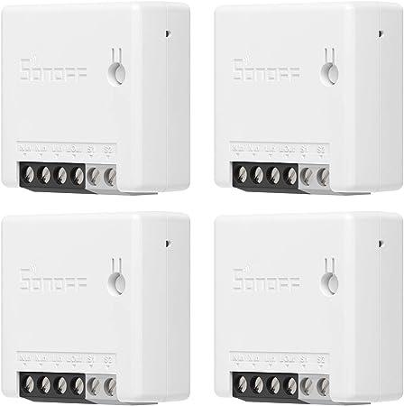 SONOFF ZigBee MINI 4PCS Interruptor inteligente de 2 vías, APP control, ZigBee3.0 protocol, supp...