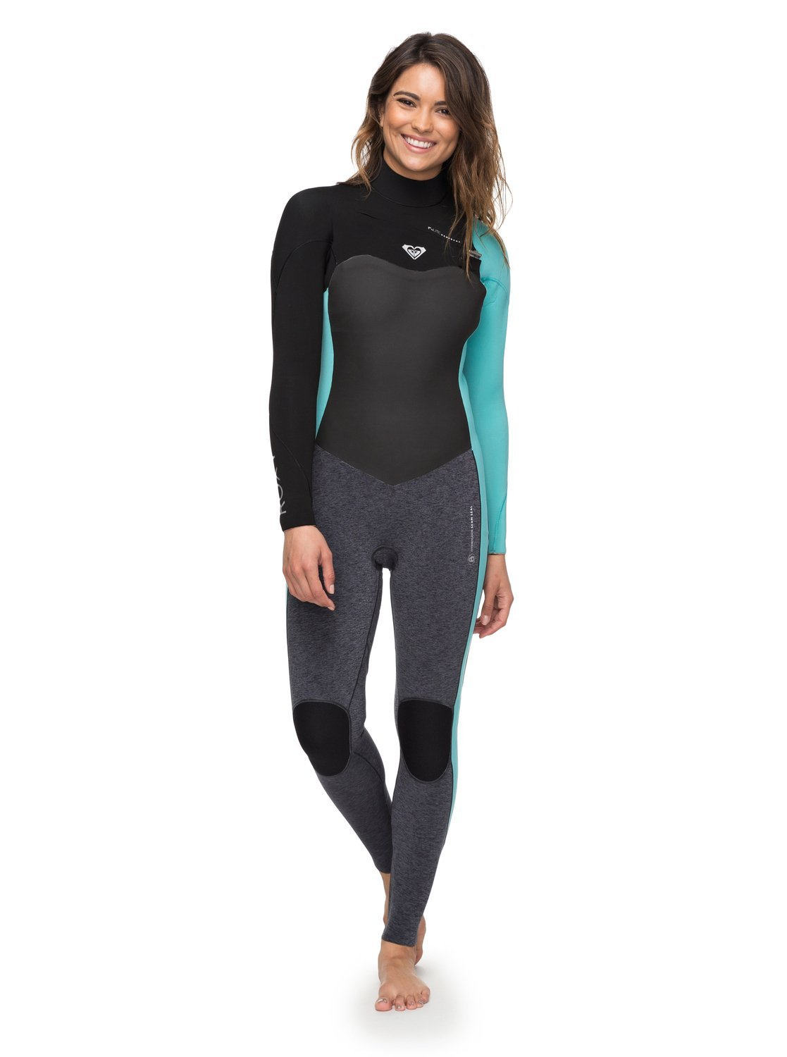 abadf354e9 Amazon.com  Roxy Womens 3 2Mm Performance Chest Zip Wetsuit Erjw103031   Sports   Outdoors