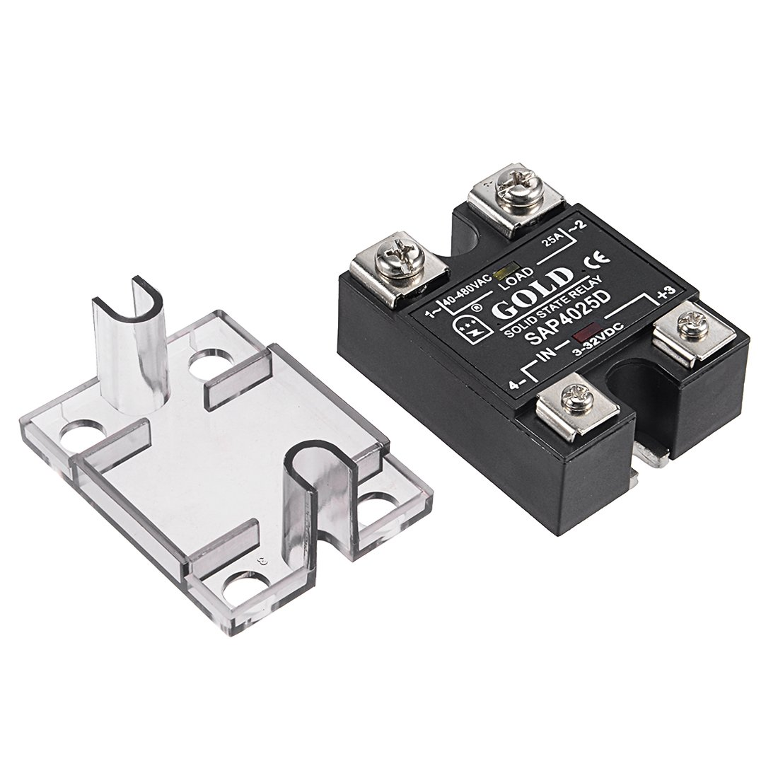 Uxcell Sap4050d G80 3 32vdc To 40 480vac 50a Single Phase Solid State Relay For Dc Module