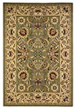 """KAS Oriental Rugs Cambridge Collection Kashan Area Rug, 3'3″ x 4'11"""", Green/Taupe"""