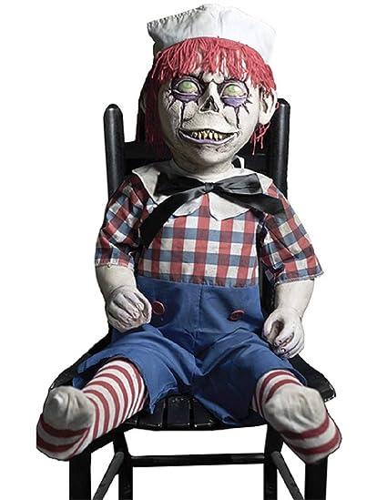 Phenomenal Amazon Com Dandy Andy Frightronic Rocking Haunted Doll Prop Ibusinesslaw Wood Chair Design Ideas Ibusinesslaworg