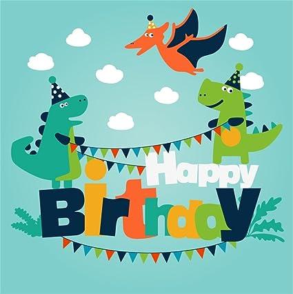 amazon com csfoto 4x4ft background for happy birthday party decor