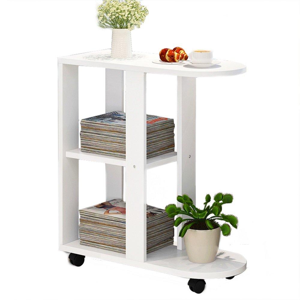 ナイトテーブル ソファー小さなコーヒーテーブルリムーバブルベッドサイドテーブルリビングルームソファサイドキャビネットサイドテーブル (色 : E-Warm white) B07FBGT3NP E-Warm white E-Warm white