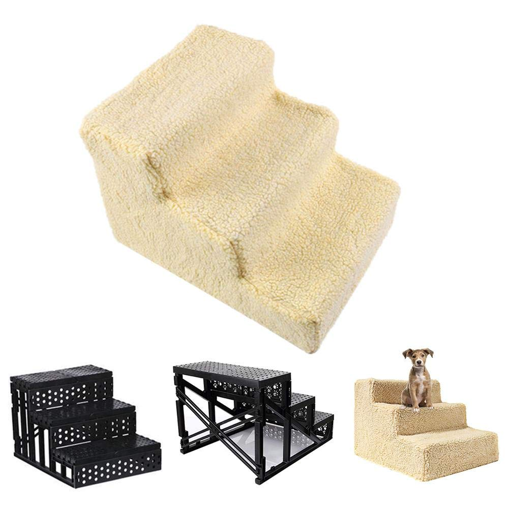 Pet Stair Steps,Dog Stair cat Ladder pet Step for Climbing Ladder Slope Ladder Jumping Platform, Pets go to Bed Stairs Jumping 1813.711.8in by settlede