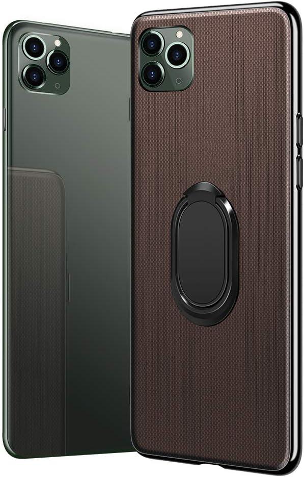 18eay H/ülle kompatibel mit iPhone 11 Pro Max Case D/ünn Tough Silikon TPU Handyh/ülle mit 360 Grad Rotierenden Ring Magnet Kickstand Bumper Sto/ßfest Schutzh/ülle