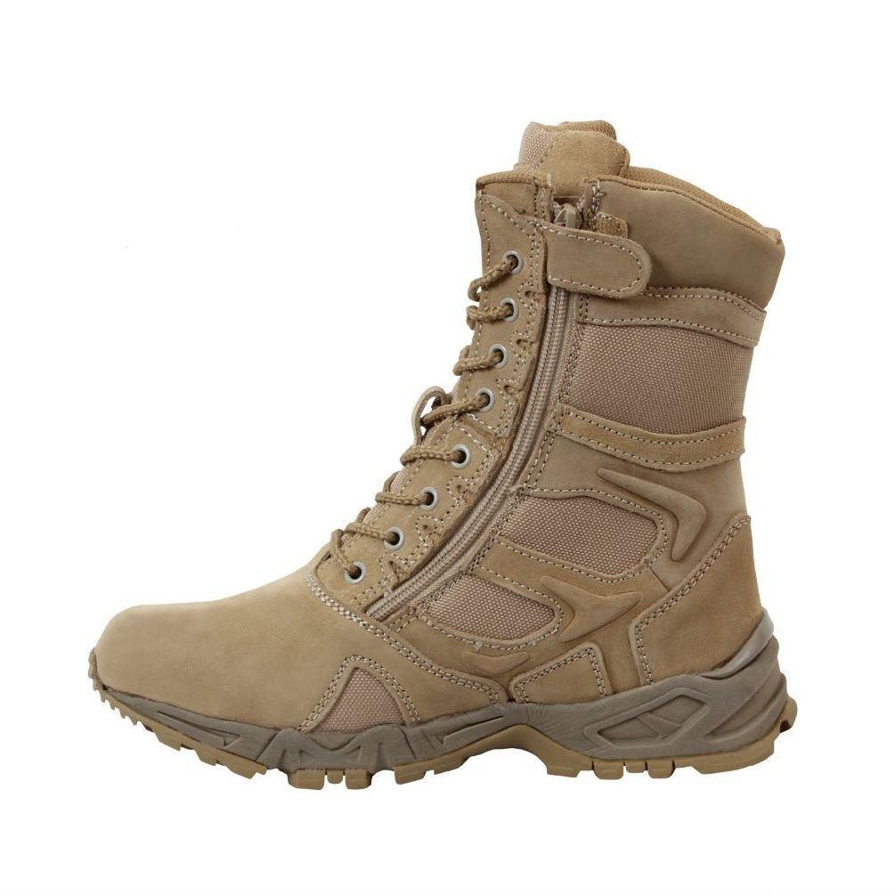 "8"" Desert Tan Forced Entry Military Army Sport Deployment Zipper Boot"