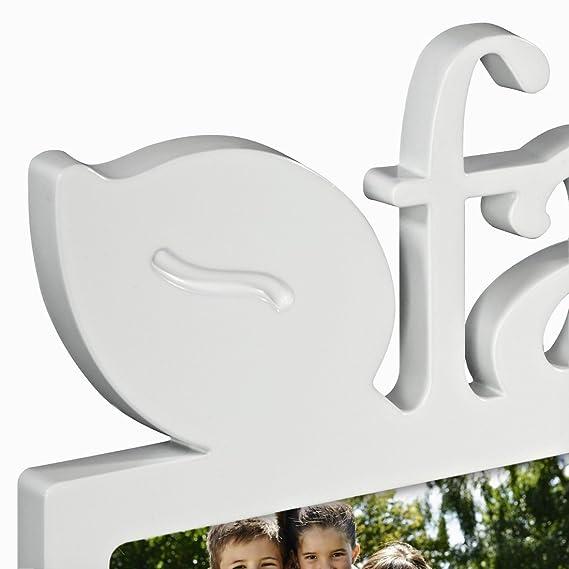 Hama Budapest - Friends Blanco Portafotos múltiple - Marco (Sintético, Blanco, Portafotos múltiple, 10 x 15 cm, Reflectante, 1 Pieza(s)): Amazon.es: Hogar