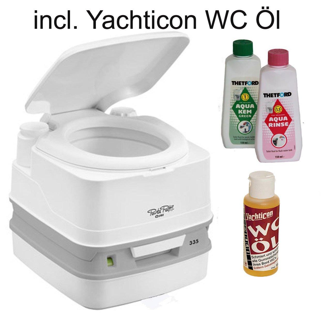 Thetford Tragbare Frischwassertoilette Porta Potti PP 335 bootsshop Edition incl. Yachticon WC Öl