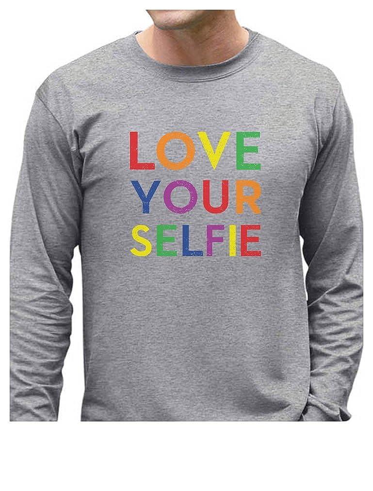 f78d7a3c0 Top18: Tstars Love Your Selfie Rainbow Gay & Lesbian Pride Long Sleeve T- Shirt