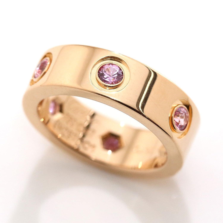 カルティエ Cartier ラブリング #47 フル ピンクサファイア 6P K18PG 18金ピンクゴールド 750 指輪 【中古】 90049060 B07F7WS1BP