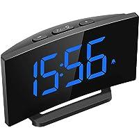 Mpow Despertadores Digitales, Reloj Despertador Digital, Pantalla Curva