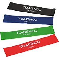 4-Pc Tomshoo Resistance Loop Exercise Bands Set
