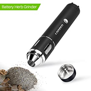 Rechargeable Electric Dry Herb Grinder - LONZEN 2018 Best Design. Crush the Toughest Spice with Heavy Duty Stainless Steel Blades. Clear Glass Dispenser Window. 2 - Year Warranty.