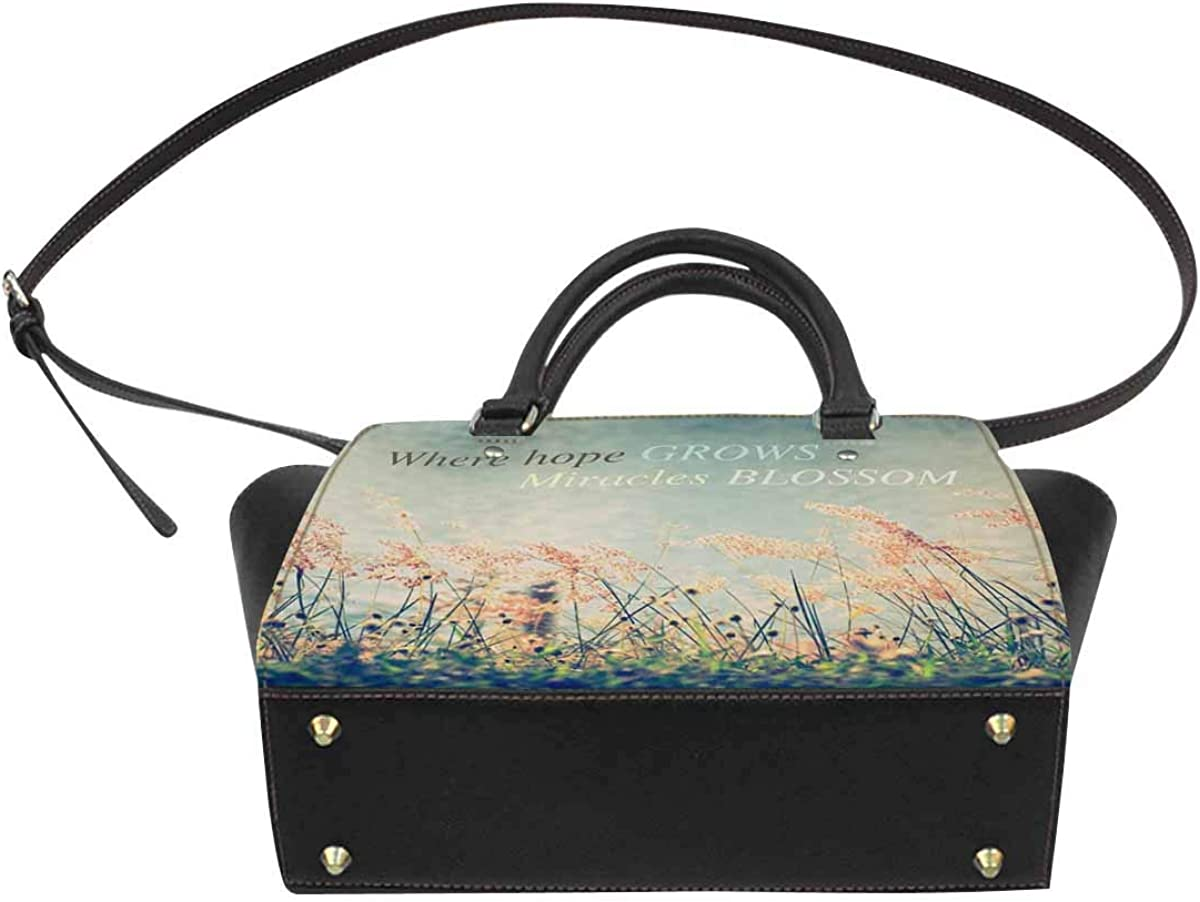 INTERESTPRINT Watercolor Fantastic Gothic Octopus Large Capacity PU Leather Handbag Shoulder Bag