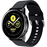 Compatible Samsung Galaxy Watch Active 40mm SM-R500 Strap, Womdee 20mm Silicone Watch Strap for Garmin Forerunner 645/245, Adjustable Wrist Band for Ticwatch/Huawei Watch 2/Amazfit SmartWatch