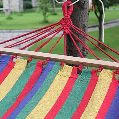 DNSJB Outdoor Hammocks, Widened Thick Canvas, Wooden Sticks To Prevent Rollover, Park Camping Easy To Carry, 200 * 80cm