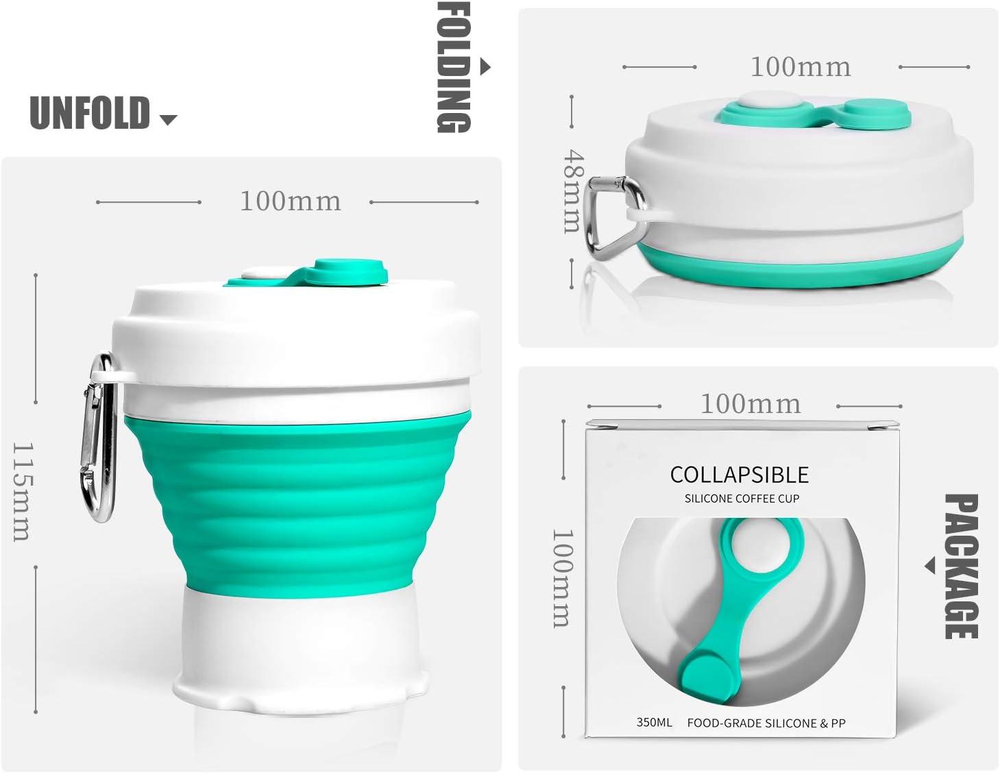 3 Tama/ños Ajustables para Satisfacer Las Necesidades Amantes del Caf/é MALTSKY Taza de Caf/é de Silicona Plegable