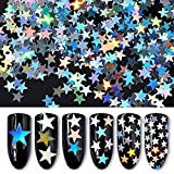 Star Shaped Dazzling Nail Sticker Colorful Nail Art Decoration