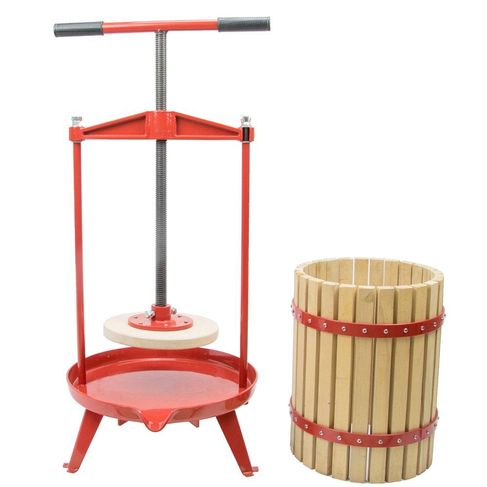 EJWOX 4.75 Gallon Fruit Wine Press, Heavy-duty Cross-beam Hardwood Cider Press by EJWOX (Image #4)