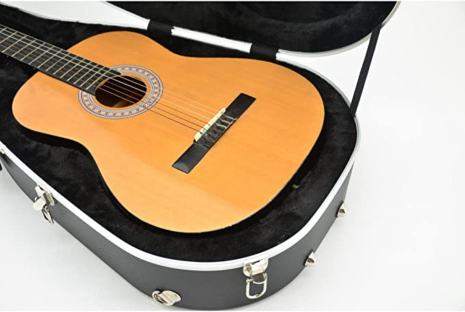 CrossRock cra400cbk ABS hardshell para guitarra clásica funda en ...