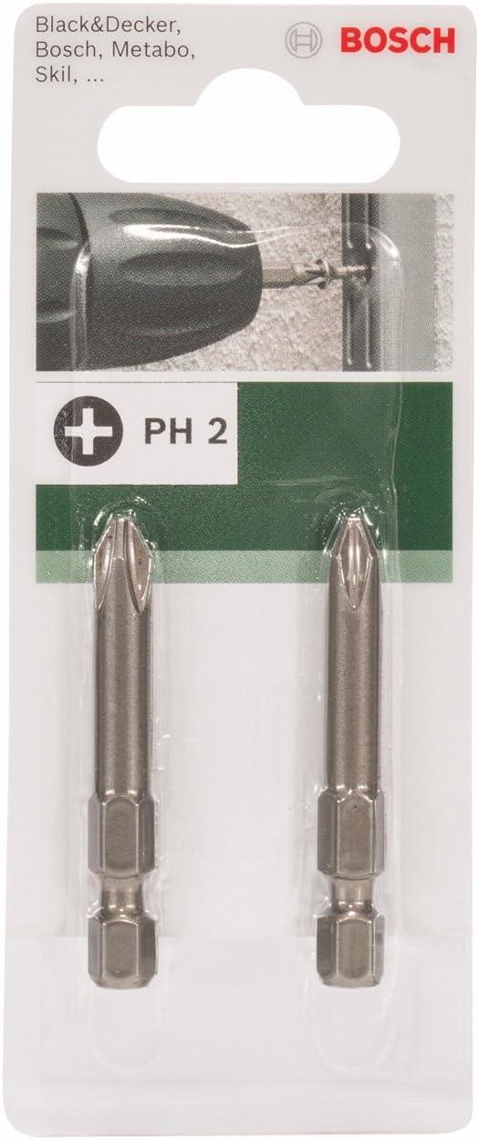 Bosch 2609255920 Embout de tournevis Phillips 49 mm PH2 Lot de 2