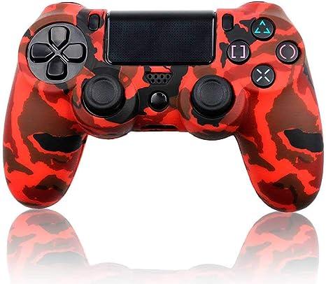 Ociodual Funda de Silicona Carcasa para Mando Sony PS4/Slim/Pro Dualshock Camuflaje Roja: Amazon.es: Electrónica