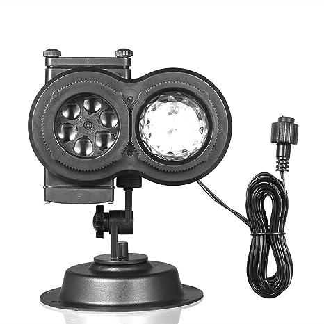 Lilideni Control Remoto 2 en 1 Lámpara de Onda de Agua Proyector ...