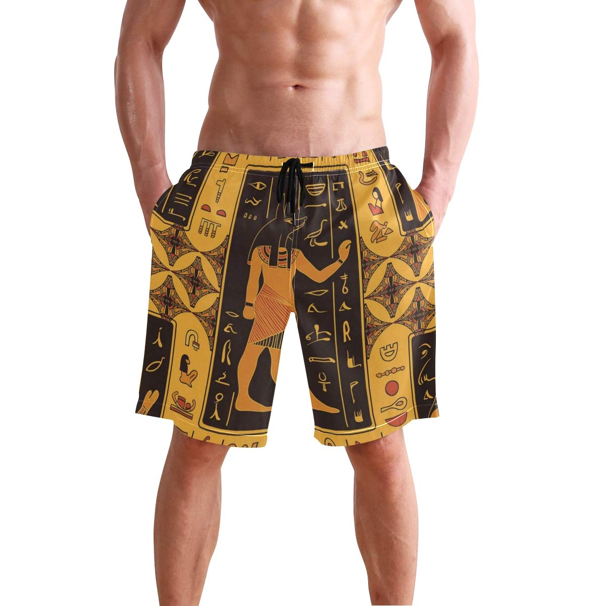 Mens Comfortable Underwear Running Horses Boxer Briefs for Men