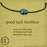 "Good Luck Necklace Scarab Bead on a Cord Collar Necklace for Men Made with Swarovski Crystals Adjustable, 16"" -24"""