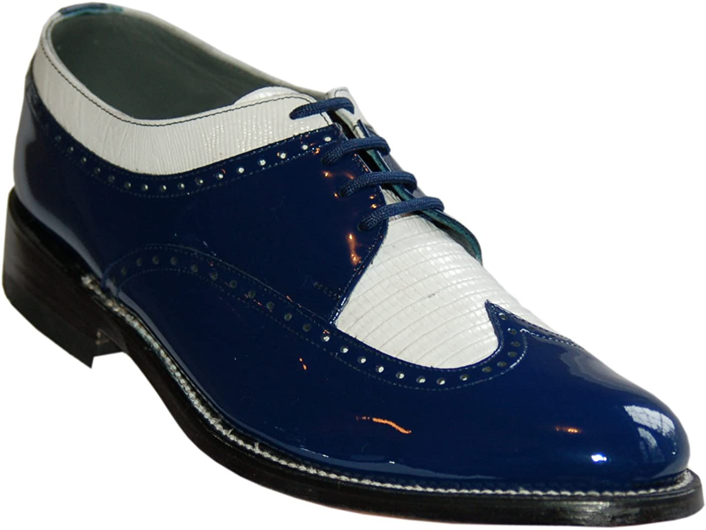 Stacy Baldwin Blue and White Wingtip