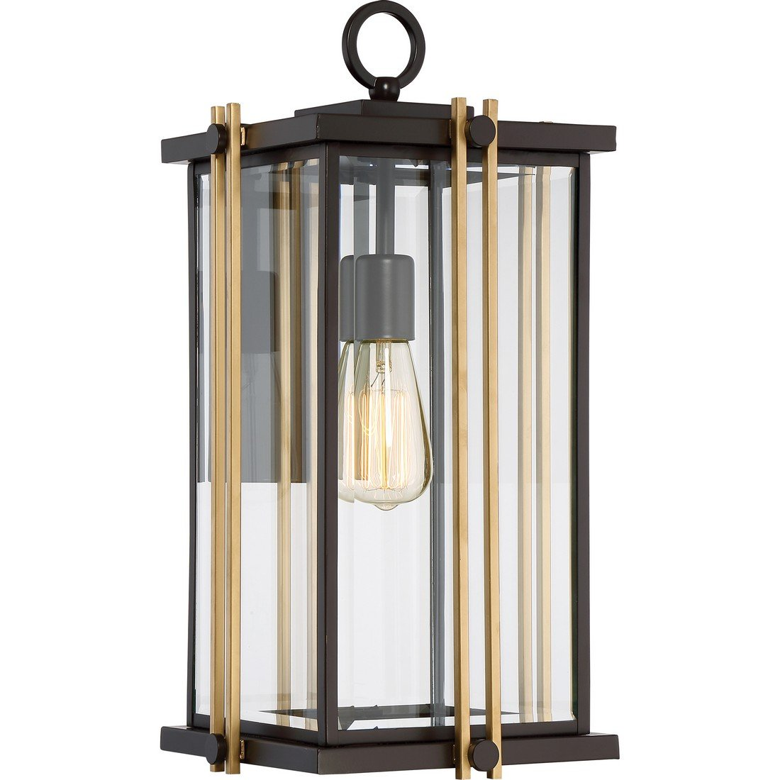 Quoizel One Light Outdoor Wall Lantern GLD8410WT, Large, Western Bronze