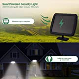 Solar Security Light Outdoor, 1600LM Solar LED