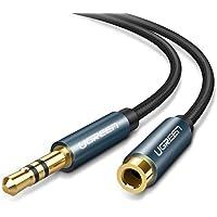 UGREEN 3M Cable 3.5mm Macho a Hembra Alargador de Auxiliar, Cable Extension Audio 3.5mm Nylon Trenzado para Auto Estéreo, Bocina, Altavoz, iPhone, iPad, Celular, Tablets y Reproductor, 3 Metro