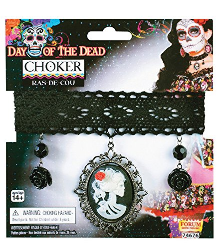 Day of the Dead Cameo Choker Costume Accessory