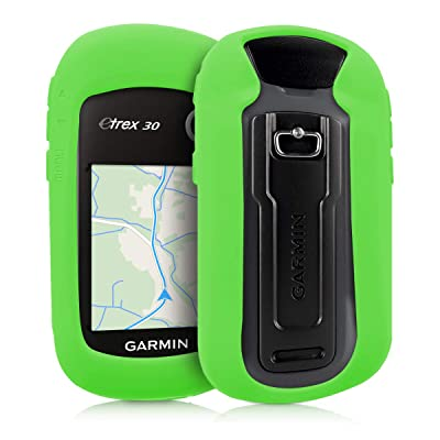 kwmobile Case Compatible with Garmin eTrex 10/20/30/201x/209x/309x - GPS Handset Navigation System Soft Silicone Skin Protective Cover - Green: GPS & Navigation