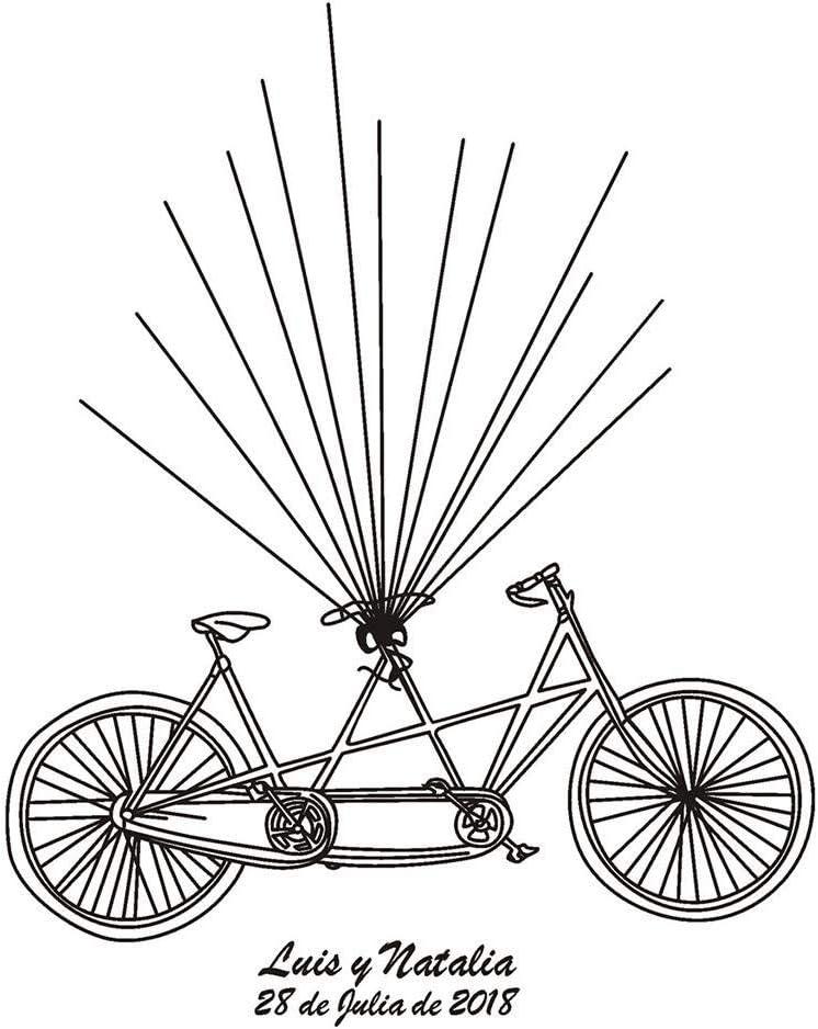 Lienzo para firmas de invitados para pintar huellas de bicicleta ...