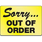 Amazon Com Out Of Order Sign For Bathroom Stalls 1 Home Kitchen