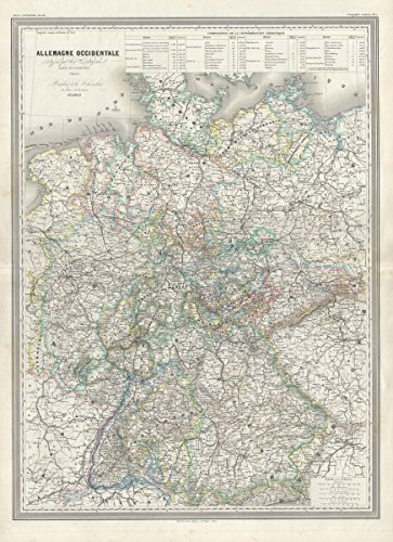 ur Map of Germany |18 x 24 Fine Art Print | Antique Vintage Map (Germany Antique Map)