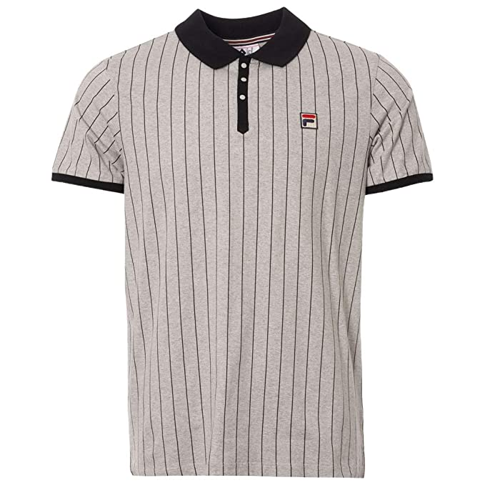 Fila Vintage BB1 Classic Stripe Polo Shirt | Peacoat/Chinese Red