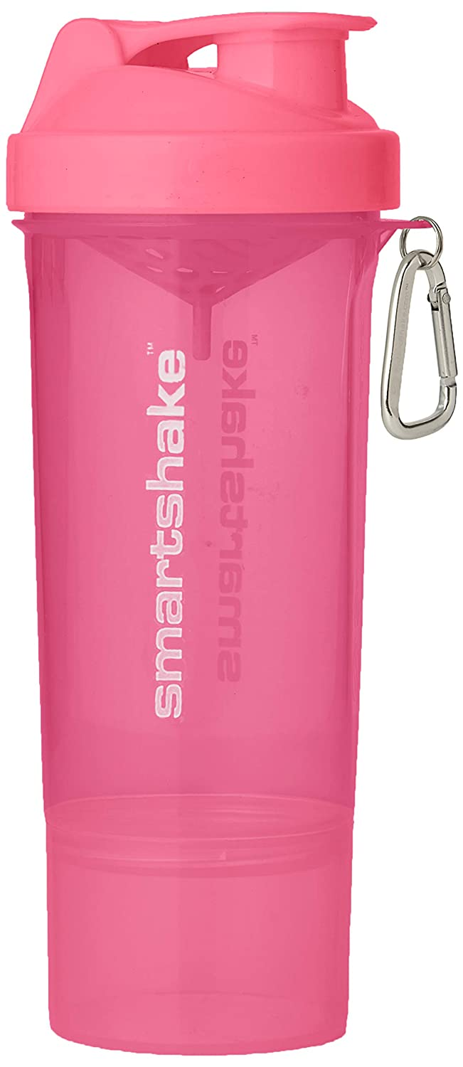 Smartshake SLIM, 17 oz Shaker Cup, Neon Pink (Packaging May Vary)