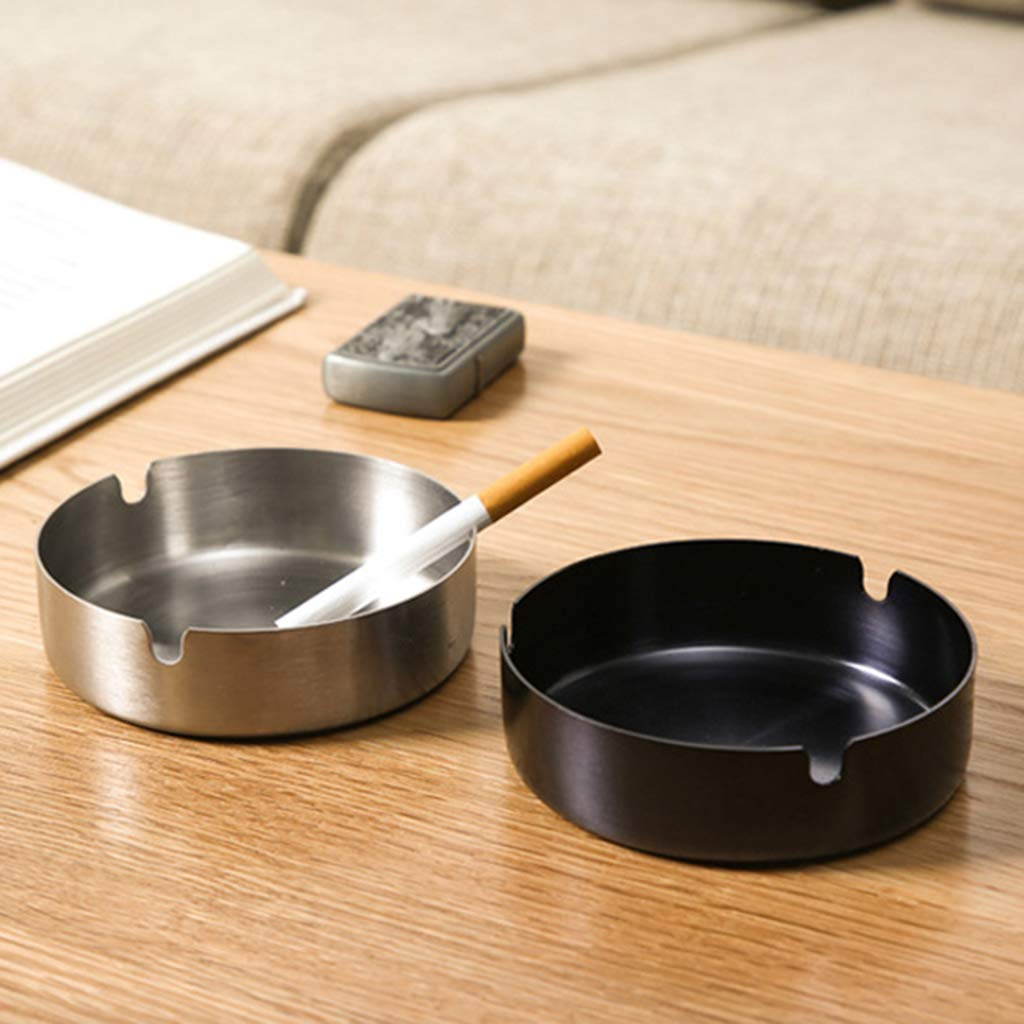 A shaoyanger Multifunctional Stainless Steel Wall Mounted Ashtray Adhesive Bin Ash Holder Smoking Box for Bathroom Toilet Hotel Office