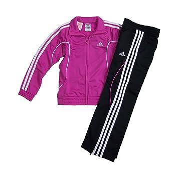 adidas Mädchen Trainingsanzug pinkschwarz, Bitte Größe