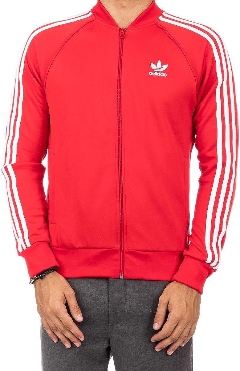 adidas Originals Superstar # ay7062 Chaqueta de chándal, Rojo ...