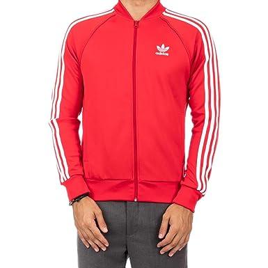 1af2e3663c36a adidas Mens Originals Superstar Track Jacket #AY7062 - Red -: ADIDAS ...