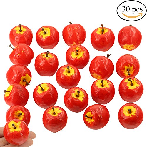 Supla 30 Pcs Artificial Mini Apples in red 1.4
