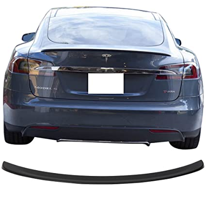 Amazon com: Trunk Spoiler Fits 2012-2018 Tesla Model S | Unpainted