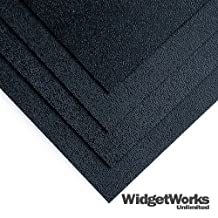 """BLACK ABS Thermoform Plastic Sheets 1/8"""" x 18"""" x 18"""" Sheets - 4 Piece Bundle by WidgetWorks Unlimited LLC."""