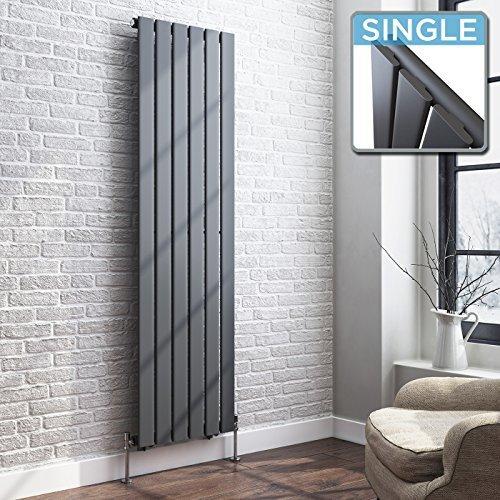 Awesome IBathUK 1600 X 480 Vertical Column Designer Radiator Anthracite Single Flat  Panel