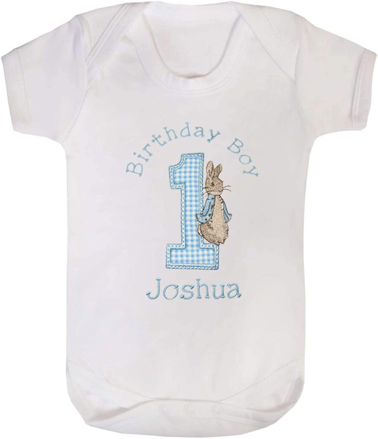Boys Peter Rabbit Personalised 1st Birthday Vests Cake Smash