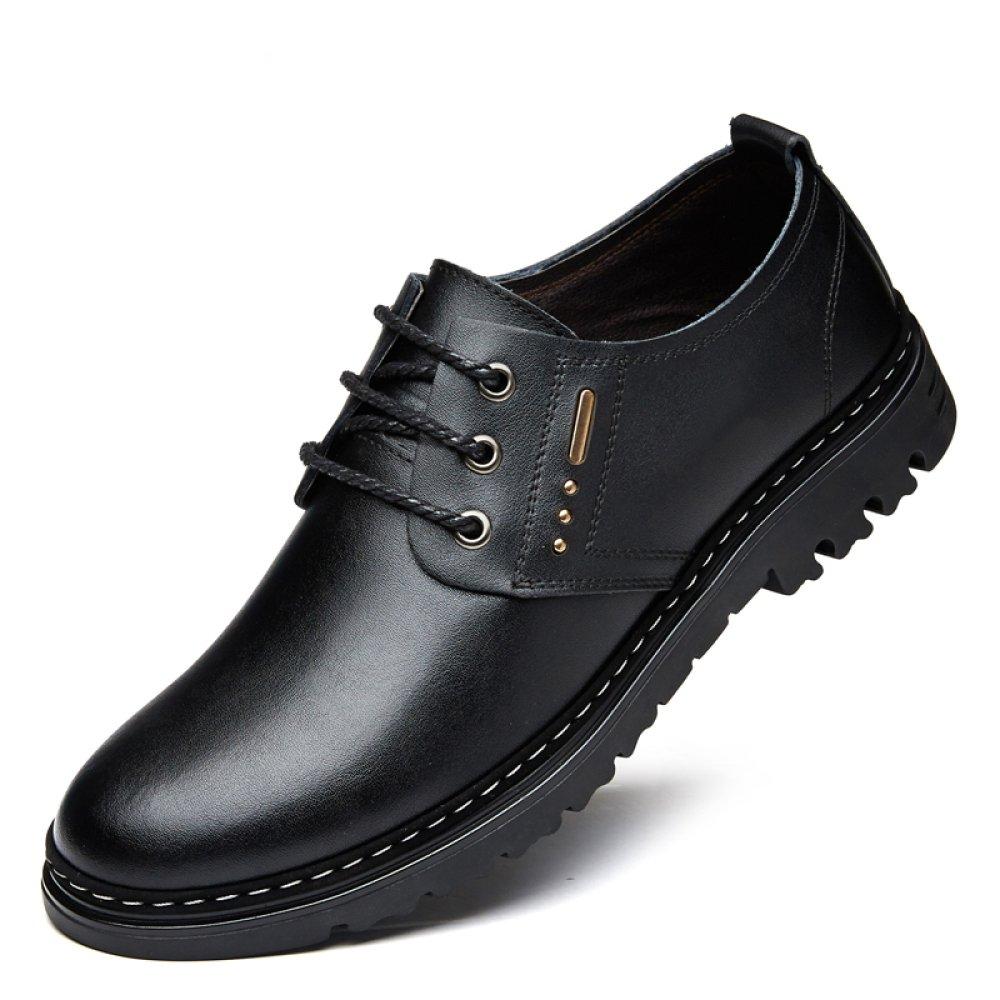 YXLONG Sommer Herren Sandale Atmungsaktive Herrenschuhe Leder Loch Neue Hohle Schuhe Herren Loch Leder Schuhe Herrenschuhe fourseasonsschwarz cb614e